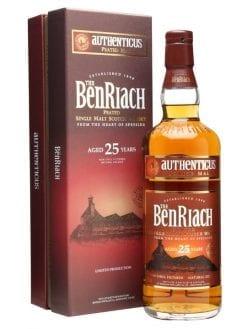 bnrob.25yov1 247x329 - NV Benriach 25YO Authenticus Peated 1x700ml